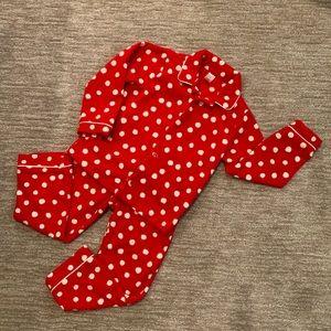 Gap Kids fleece 2 piece pajamas size 5